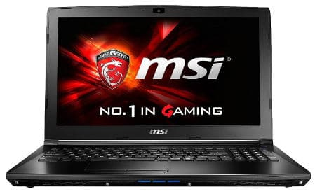 MSI GE62VR - best i7 laptops in India