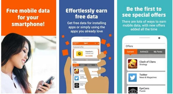 freeway - Earn Free data on Vodafone Airtel Idea or RCOM with Freeway app