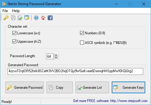 Sterjo password generator