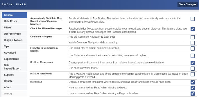 social fixer facebook customizer for chrome