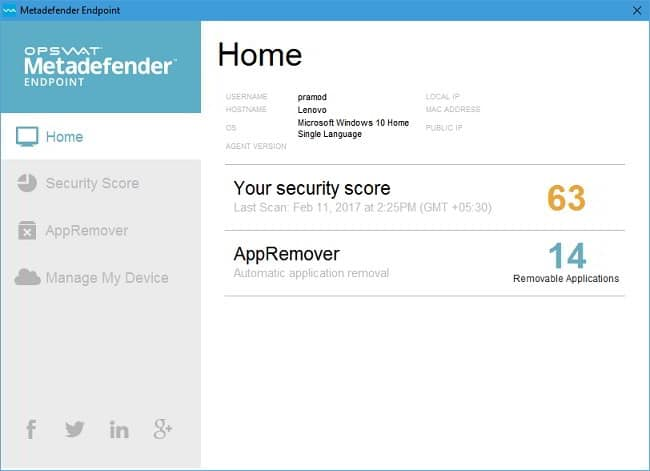 metadefender endpoint security monitoring software