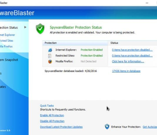SpywareBlaster download review