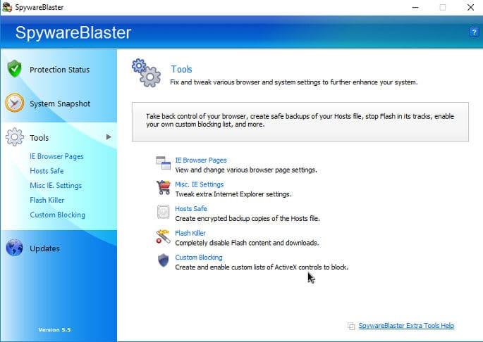 spywareblaster tools