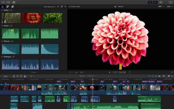 Apple Final Cut Pro - best video editing software 2017