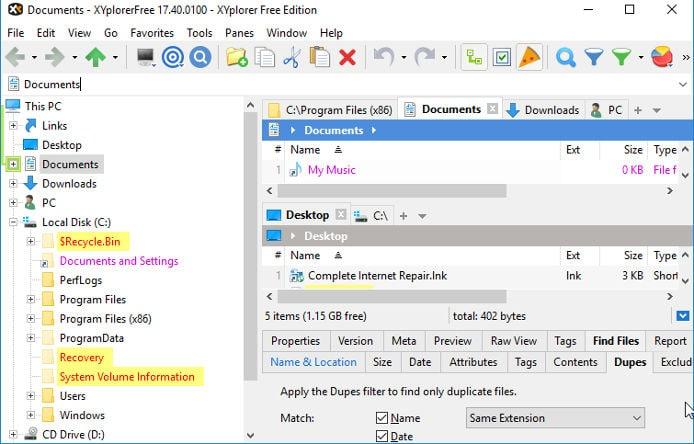 XYExplorer - best Windows file manager software